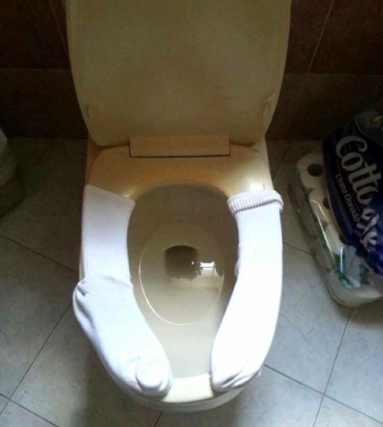 Когда не очень тепло в туалете Полезные, быт, дом, идеи, креативно, фото