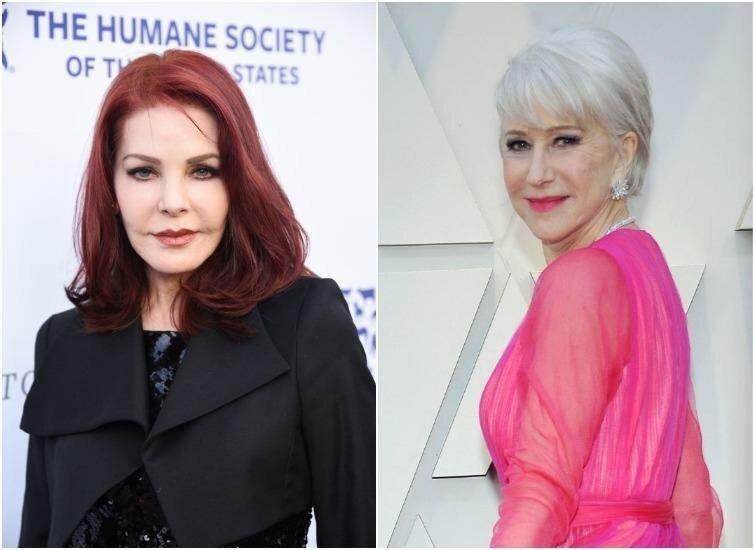 Присцилла Пресли и Хелен Миррен — 74 года актриса, внешность, возраст, звёзды, знаменитости, пластические операции
