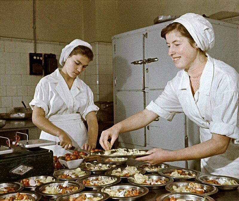 5. Повара московской столовой, 1959 год жизнь, исторические фото, история, прошлое, фото