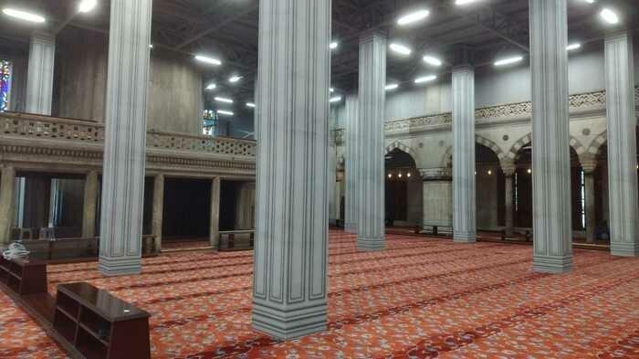 5. «Мечеть в Стамбуле выглядит как игра на самой минимальной графике» обман зрения, фото, фотография