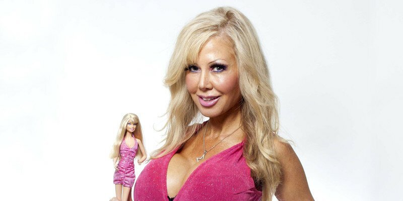 Всего несколько лет назад она выглядела вот так куклы, макияж, пластические операции, подборка, трансформация, хирургия