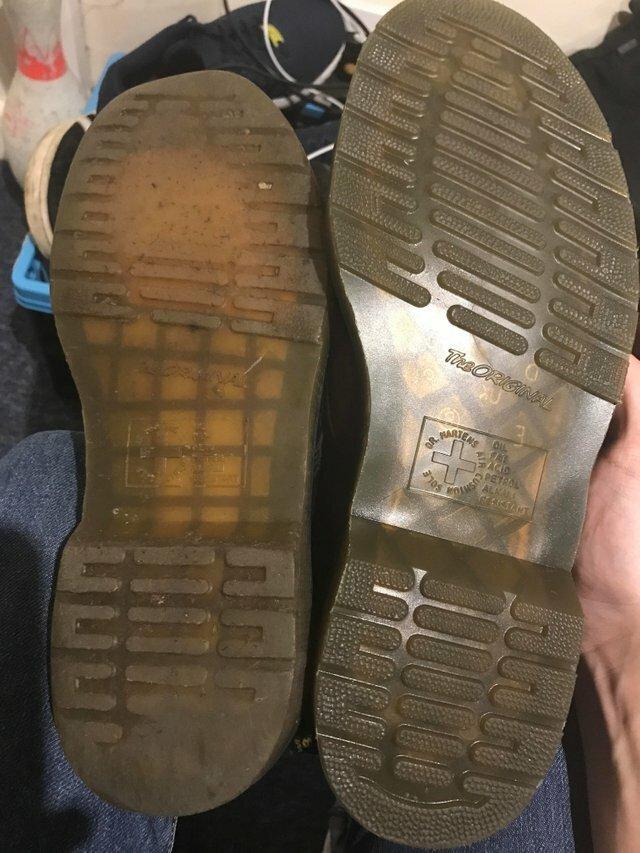 17. Подошва старой и новой обуви одной модели время, время неумолимо, до и после, интересно, со временем, фото