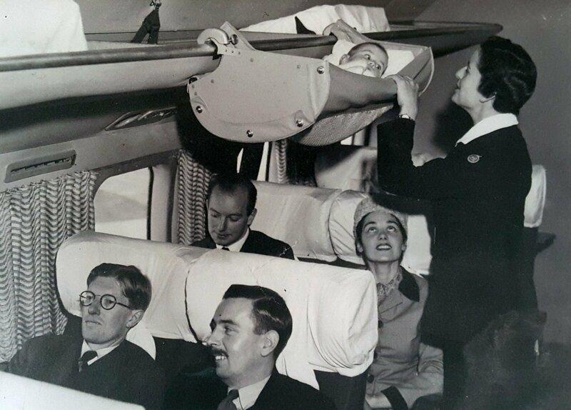 14. Так перевозили младенцев в самолетах, США, 1950-е годы жизнь, исторические фото, история, прошлое, фото