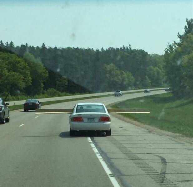 Автомобилисты как только не извращаются, чтобы запихнуть невпихуемое в машину впихнуть, креатив, невпихуемое, нестандартно, подход, юмор