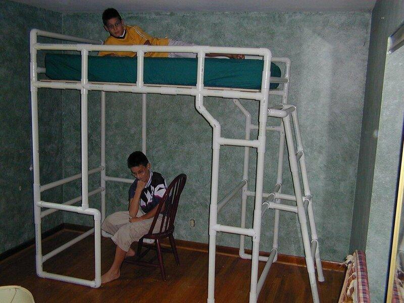 Двуспальная кровать ПВХ-изыски, изобретательность, пвх, пвх-трубы, подборка, прикол, юмор