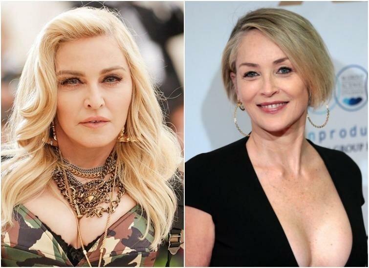 Мадонна и Шэрон Стоун — 61 год актриса, внешность, возраст, звёзды, знаменитости, пластические операции