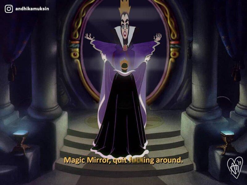 3. «Когда заказываешь магическое зеркало, а приходит кривое» забавно, мультик, прикол, реальность, художник, юмор