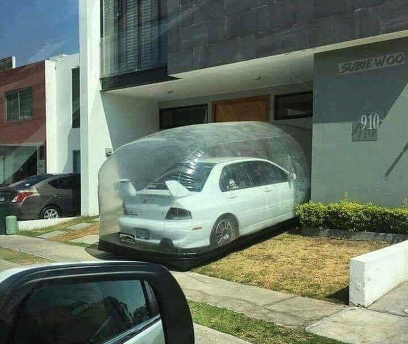 Переносной надувной гараж, который защитит ваш автомобиль
