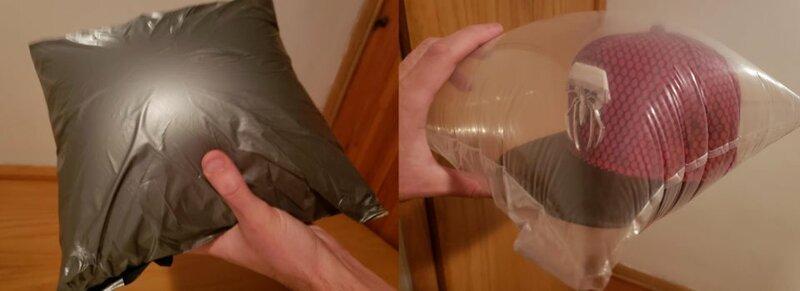 Специальная упаковка с воздухом, чтобы вещи не деформировались в пути