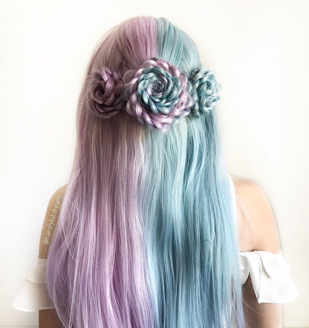 Молодая девушка парикмахер-самоучка создает невероятные шедевры из волос